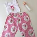 New Born-Old Time Roses Harem Pants & Appliqued Singlet
