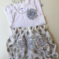 Size 0 (6 to 12 Months) Nappy Pants and Singlet in Silver