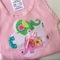 Size 1-3 months - Elephant Romp Nappy Pants and Appliqued Singles
