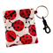 Ladybird Coin Pouch/ Coin Purse with keyring and clip waterproof and washable