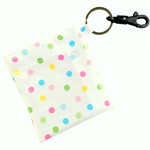 Candy Spots Coin Pouch/ Coin Purse with keyring and clip waterproof and washable