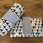 Nappy wallet/ diaper clutch and waterproof change mat set