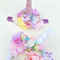 Custom spot unicorn horn flowercrown headband.