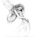 11x14 inch Matted Signed Mermaid's Drift Drawing Art Print