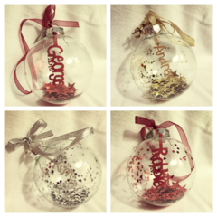 *CUSTOM ORDER* for Cathy C  Personalised Christmas Baubles decoration ornament
