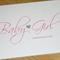 Baby Girl or Boy congratulations card with silver heart