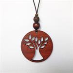 Laser cut Tree Pendant made from Jarrah #62