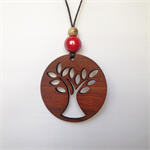 Laser cut Tree Pendant made from Jarrah