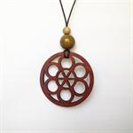 Laser cut Celtic Pendant made from Jarrah #L61