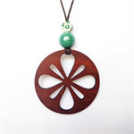 Laser cut Flower Pendant made from Jarrah #L36