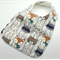 Baby Feeder Dribble Bib, Woodland Friends, Cotton Fabric Bamboo Toweling Backed