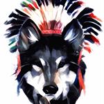 A wolf is still a wolf. Print of original Illustration