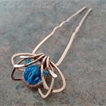 Solid Copper Wire Wrapped Crystal Jewellery Hair Pin Accessory