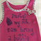 """Baby Singlet, Hot Pink, Size 0 """"Party, my cot, 2am"""""""