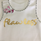 "Baby Singlet, White, Size 00, ""Flawless"""