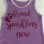 "Baby Singlet, Purple, Size 00 ""Brand Sparkling New"""
