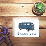 VW combi thank you card