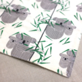 wash cloth - koala / organic cotton hemp fleece / baby toddler boy girl