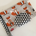 Mr Fox and Triangles Nappy Wallet fits all wipes