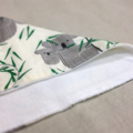 wash or burp cloth - koala / organic cotton hemp fleece / baby toddler boy girl