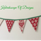 Scandi style Christmas Owl Bunting / Banner / Flags