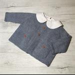 Little Cardigan - Hand Knitted - Size 1 - 50% Australian Merino Wool 50% Bamboo