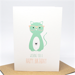 Birthday Card Female - Cat wearing glasses - HBF165