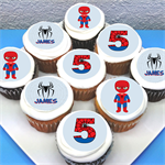 "Spiderman Personalised Edible Cupcake Toppers - 2"" - PRE-CUT"