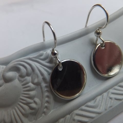 Rhodium Coin Earrings - long or short hooks
