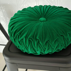 Emerald Green Vintage Style round cushion-FREE POST