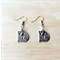 "SILVER FLORAL LOVE ""D"" LETTER EARRINGS - FREE SHIPPING WORLDWIDE"
