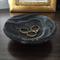 Black marble-look trinket dish