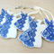 Christmas decorations. Ceramic angel ornaments. Teachers gift. Blue decorations