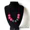 Pink & black statement necklace