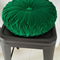 Emerald Green Vintage Style round cushion