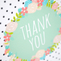 Thank You Card - Thank You Floral Wreath - THY029