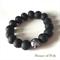 Monochrome black bead bracelet
