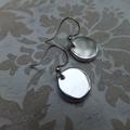 Rhodium Coin Earrings - long or short hooks