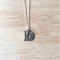 "SILVER FLORAL LOVE ""D"" LETTER PENDANT NECKLACE - FREE SHIPPING WORLDWIDE"