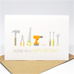 Birthday Male Card - Happy Birthday - Tools - HBM069