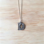 """SILVER FLORAL LOVE """"D"""" LETTER PENDANT NECKLACE - FREE SHIPPING WORLDWIDE"""
