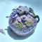 Teapot cosy with mauve, purple & white roses and green leaves for large teapot