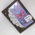 Thank You Card - Foil Print Paper Butterfly