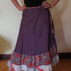 Wrap Skirt, Recycled fabric (M - XL one size fits most)