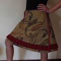 Wrap Skirt, Recycled fabric (One size fits most Small - Large)