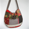 RED TONED PATCHWORK BAG