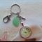 Sea Urchin design Green Seaglass / Shell / Setting Keyring Bag Charm