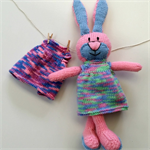 Hannah Rabbit with two dresses