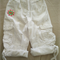 """ESPRIT white 'weekend' shorts, Size 4, hand sewn """"hearts"""" embroidered patch"""