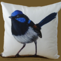 Cushion Cover, Fairy Wren, Bird, Wildlife, Colourful Throw Pillow, Decorative,